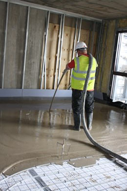 Isowarm Tackerboard System - Isocrete Alpha Screed (Ground Floor)