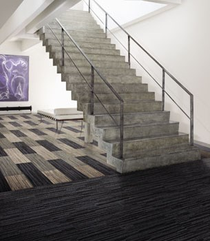 Net Effect B701 Skinny Planks - Pile carpet tiles