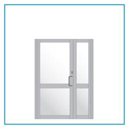 H20 External Aluminium Unequal Pair Hardware Set