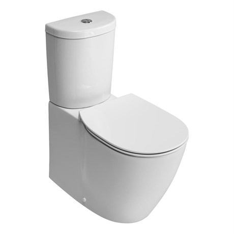 Santorini Ellipse Close Coupled Back To Wall WC Suite with Aquablade technology