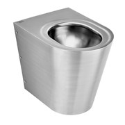 Perth 2 Stainless Steel Back To Wall WC Pan