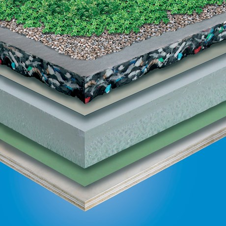 TG66 Green Roof System - Cuspated PUR Foam Drainage Board