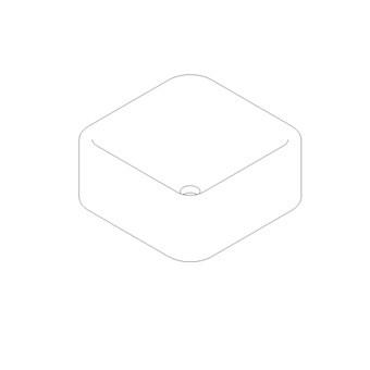 Cube shaped vessel wash basin