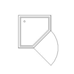 Pentangular shower cubicle assembly