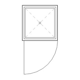 Rectangular shower cubicle assembly