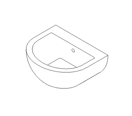 Wall mounted wash basin