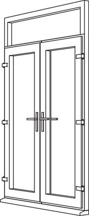 Heritage 2800 Decorative French Door - F2 Open In