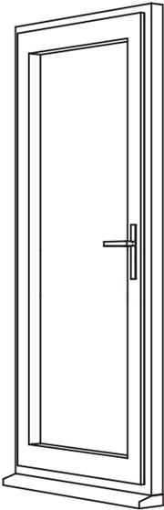 Heritage 2800 Decorative Residential Door - R1 Open In