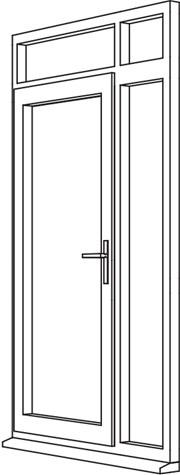 Heritage 2800 Decorative Residential Door - R5 Open In