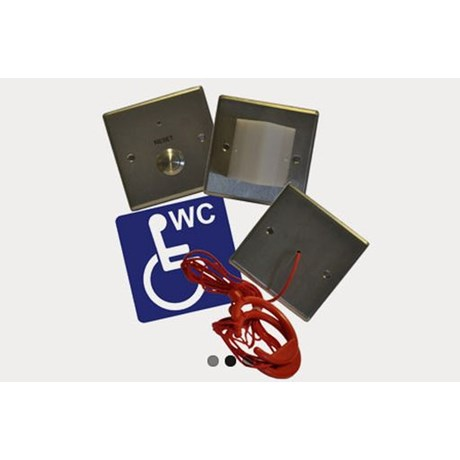 Omnicare Stainless Steel Disabled Toilet Alarm Kit