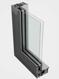 BSC94 Sliding Door System - 2 Panel Sliding [Curtain Wall Placement]