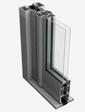 GT55-TB Double Door System [Curtain Wall Placement]