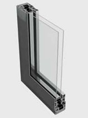58BD Double Residential Entrance Door System [Curtain Wall Placement]