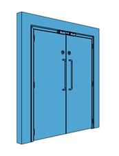 Double Metal Access Control Door