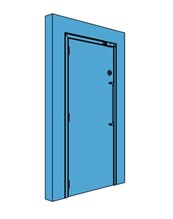 Single Metal Access Control Door