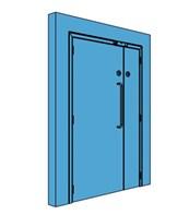 Unequal Metal Access Control Door