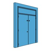 Double Metal Plant Room Door with Overhead Panel