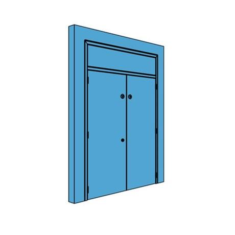 Double Metal Plant Room Door with Overhead Panel