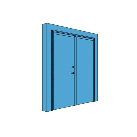 Double Metal Certified Security Door