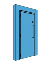 Single Metal Certified Security Door
