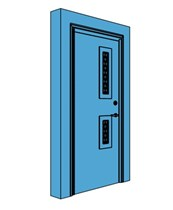 Single Metal Certified Security Door with Vision Panel