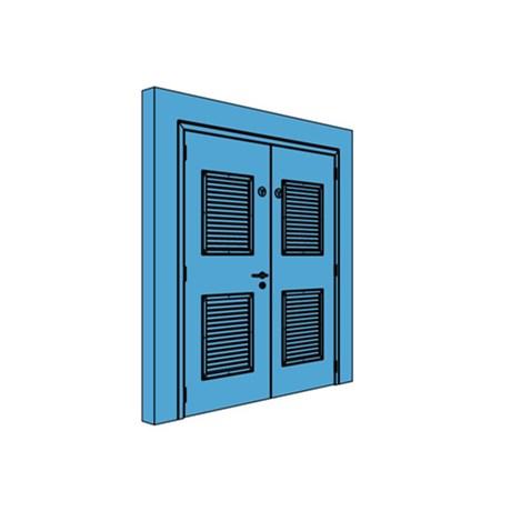 Double Metal Comms Door with Louvre