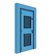 Single Metal Comms Door with Louvre