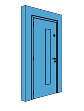 Single Metal Comms Door with Vision Panel