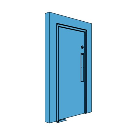 Single Metal Double Action Swing Door