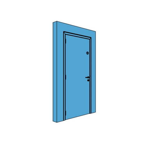 Single Metal Thermo Insulating U-Value Door