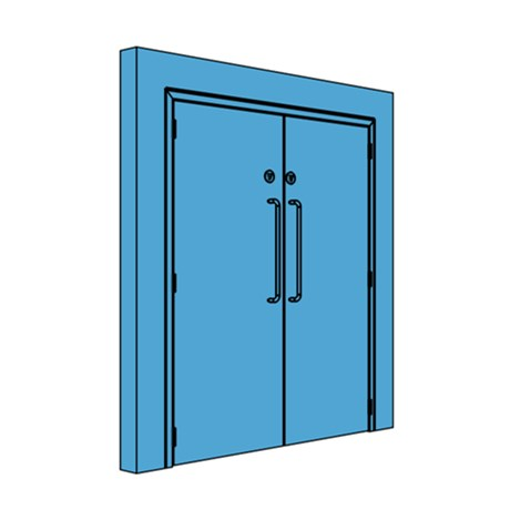 Double Metal Goods Lift Lobby Door