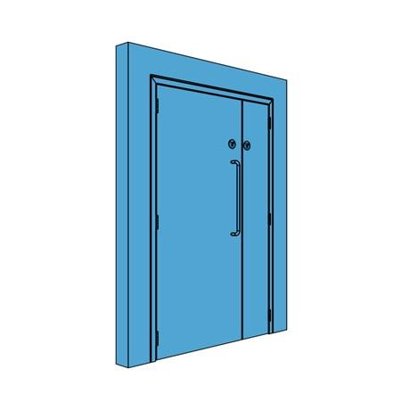 Unequal Metal Corridor/Lobby Door