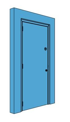 Single Metal Riser Door