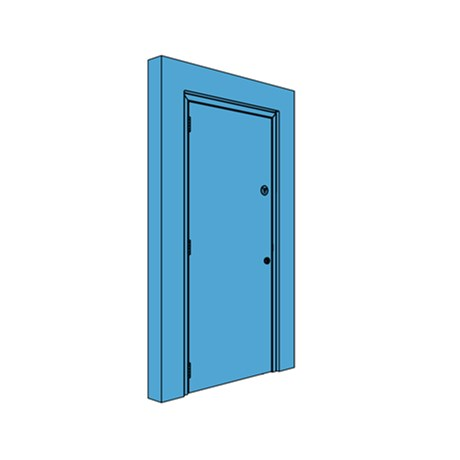 Single Metal Riser Door