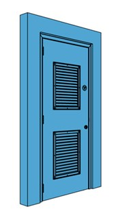 Single Metal Riser Door with Louvre
