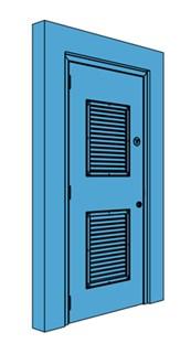 Single Metal Riser Door with Louvre