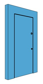 Single Hingeless Metal Riser Door