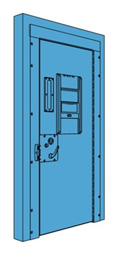 Single Metal Police Cell Door