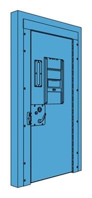 Single Metal Police Cell Door