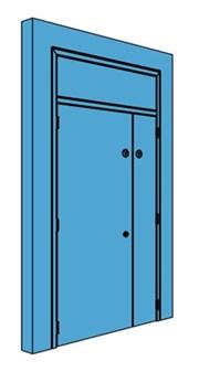 Unequal Metal Plant Room Door with Overhead Panel