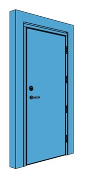Single Timber Certified Security Door