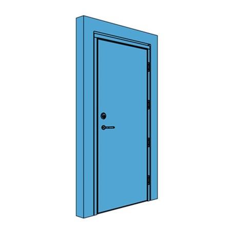 Single Timber Certified Security Door
