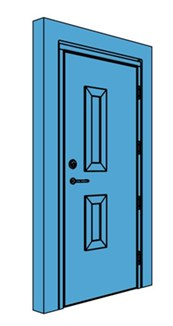 Single Timber Certified Security Door with Vision Panel