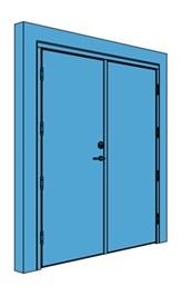 Double Timber Certified Security Door