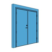 Double Timber Certified Security Door