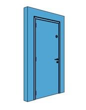 Single Metal Stairwell Door