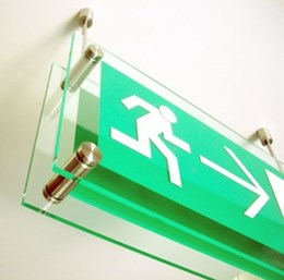 Fire Exit Sign - Non-illuminated & Suspended