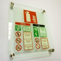 Fire Escape Strategy Sign