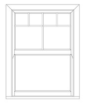 Evolve VS Georgian Variant - Vertical sliding windows