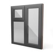Square Standard Window - Side next to Top over fixed